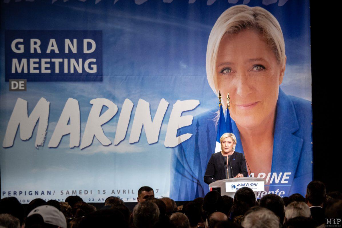 15/04/2017, Perpignan, France, Archives Marine Le Pen, Robert Menard, Louis Aliot, meeting presidentielles 2017© Arnaud Le Vu / MiP / APM
