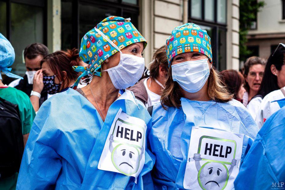 16/06/2020, Perpignan, France, Manifestation soignants hôpital public et privé © Arnaud Le Vu / MiP