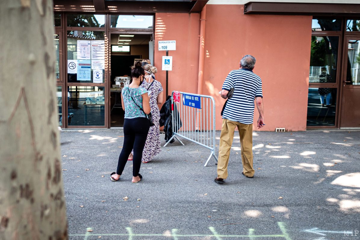 28/06/2020, Perpignan, France, Elections Municipales 2nd tour © Arnaud Le Vu / MiP