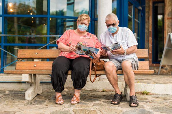 Danielles et Jaques, habitués des vacances a Argelès, n'ont pas renoncé à leur sejour malgré la crise en juin 2020.