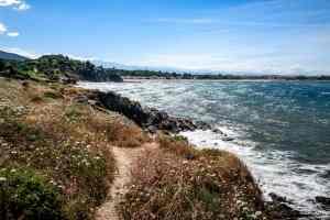 06/07/2020, Argeles-sur-Mer, France, Les criques de Porteils chemin cotier vers Collioure © Arnaud Le Vu / MiP / APM