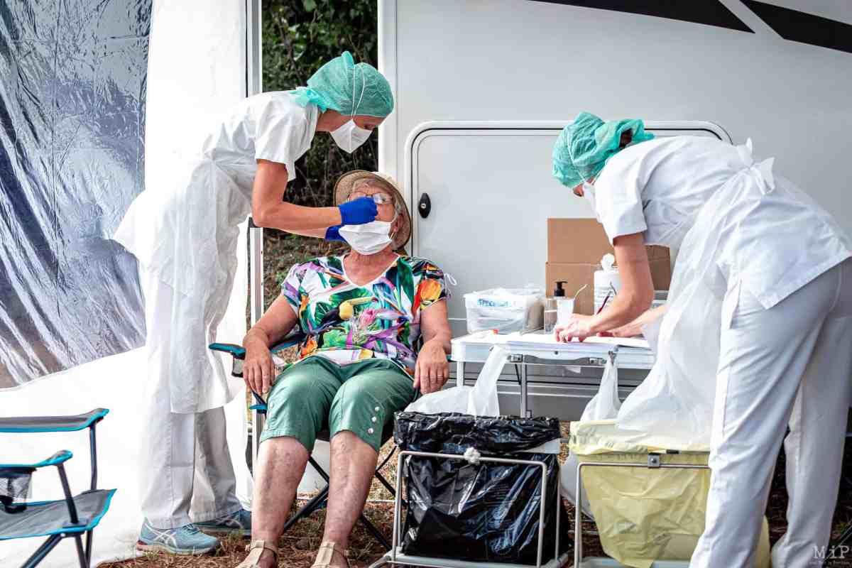 17-08-2020, Paulilles, France, Covid-19, Coronavirus, Test itinerant littoral pcr par equipe medicale hopital de perpignan © Arnaud Le Vu / MiP
