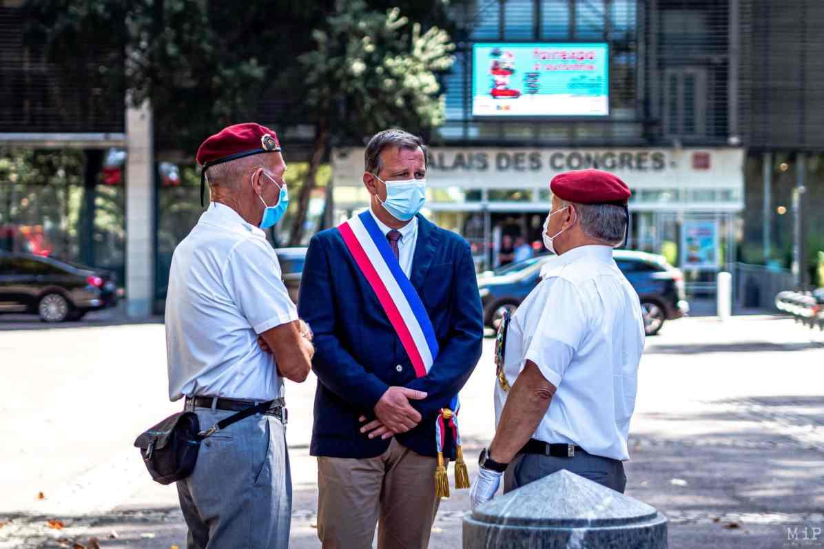24/08/2020, Perpignan, France, Cérémonie monument aux morts Louis Aliot © Arnaud Le Vu / MiP