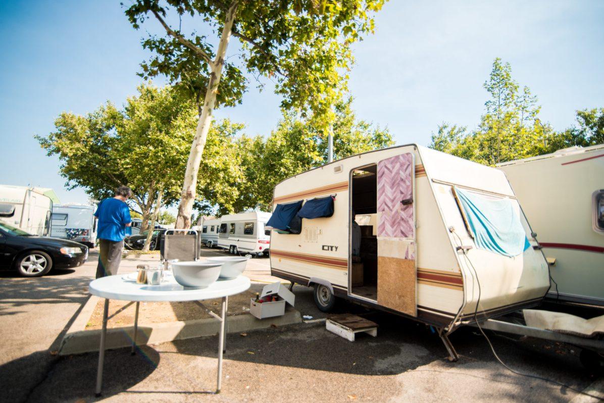 Camp de voyageurs roms a Perpignan. © Stephane Ferrer Yulianti.