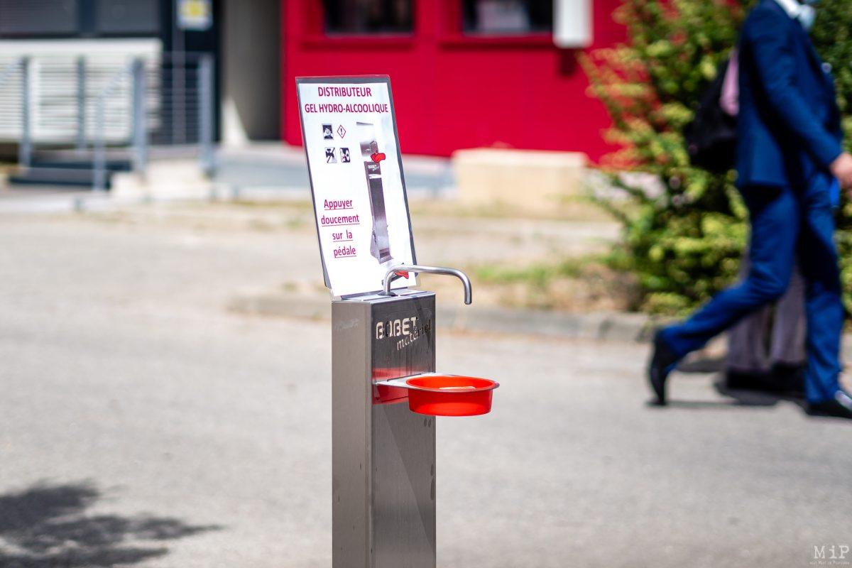 01/09/2020, Perpignan, France, Rentree scolaire college covid-19 © Arnaud Le Vu / MiP