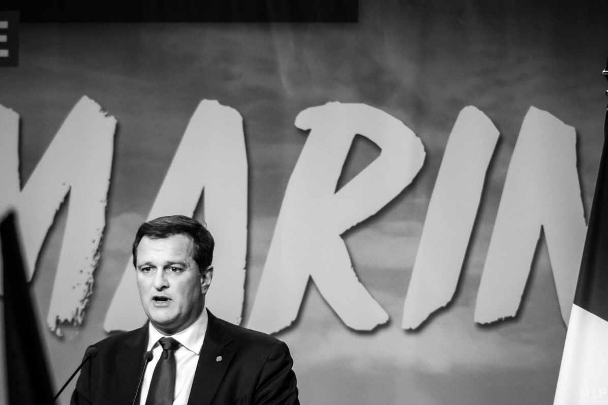 15/04/2017, Perpignan, France, Archives Présidentielles - Louis Aliot au meeting de Marine Le Pen