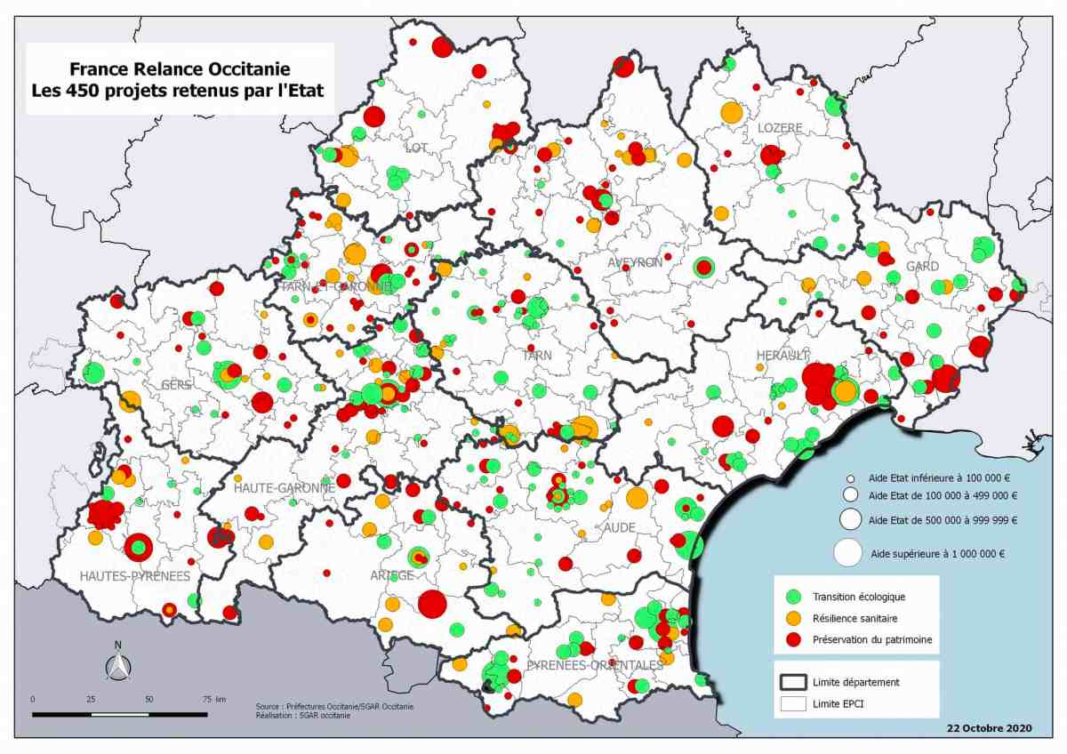 France Relance Occitanie - Les 450 projets retenus par l'État