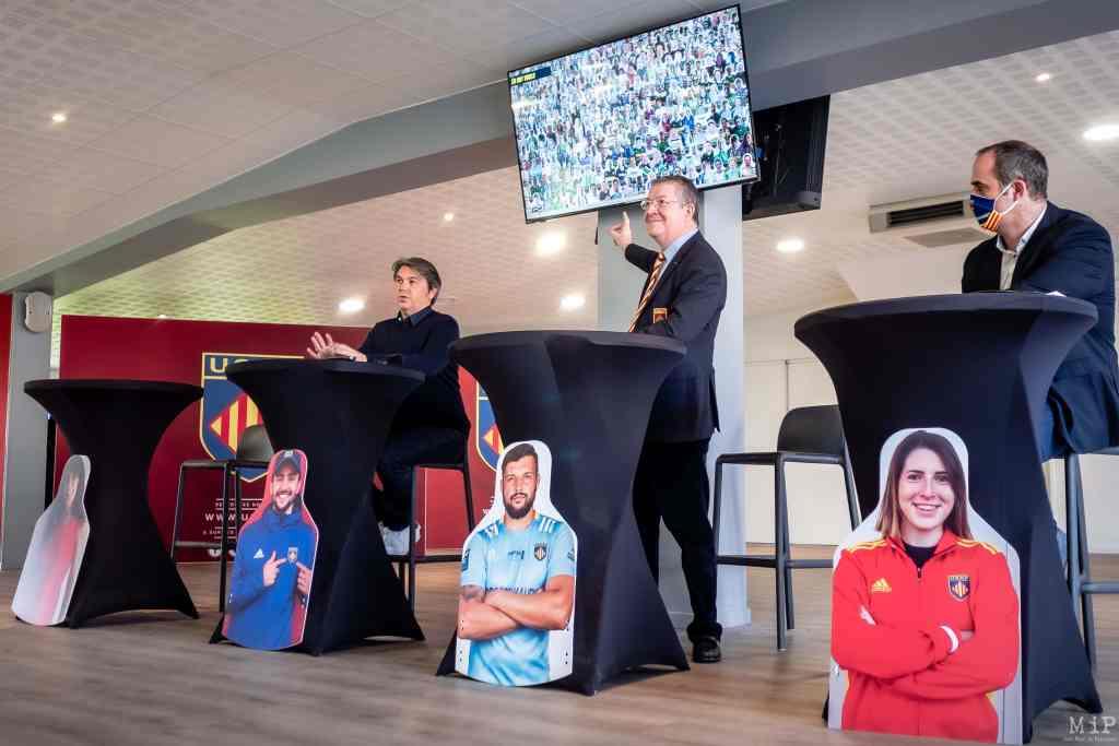 01/02/2021, Perpignan, France, USAP mission Espectador présentée par le président François Rivière © Arnaud Le Vu / MiP