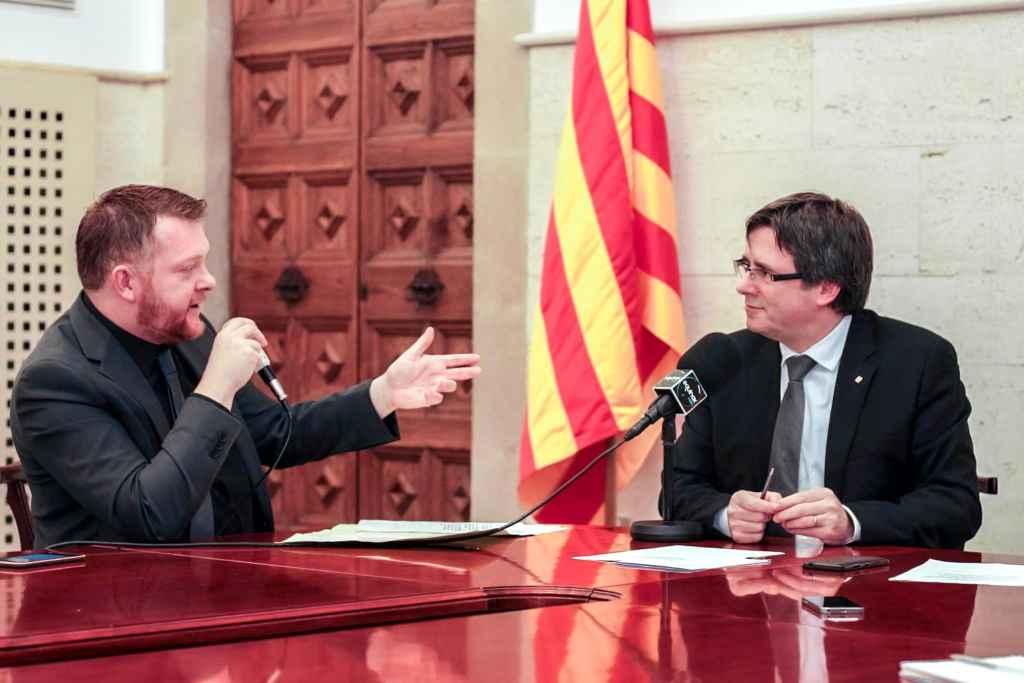 Nicolas Salvado et Carles Puigdemont © Equinox