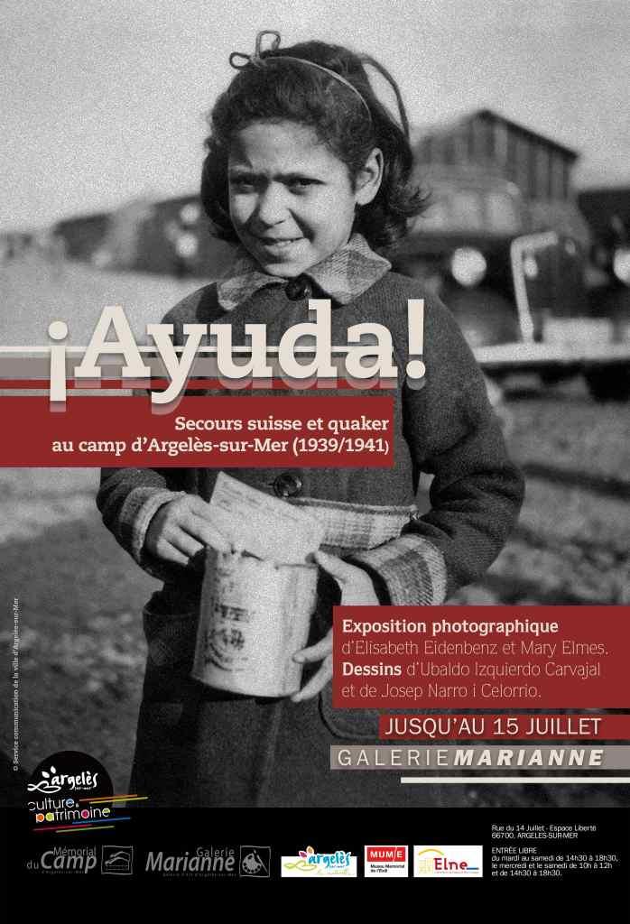 Affiche de l'exposition. Mairie d'Argelès-sur-Mer.