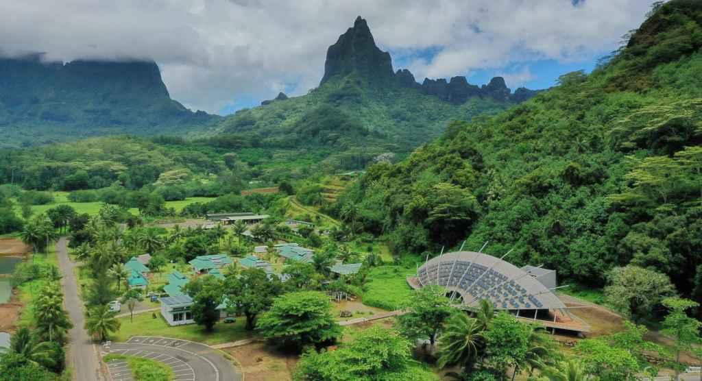 Photographie aérienne du site de Mo'orea (Polynésie Française) CRIOBE © Anthony Lagand