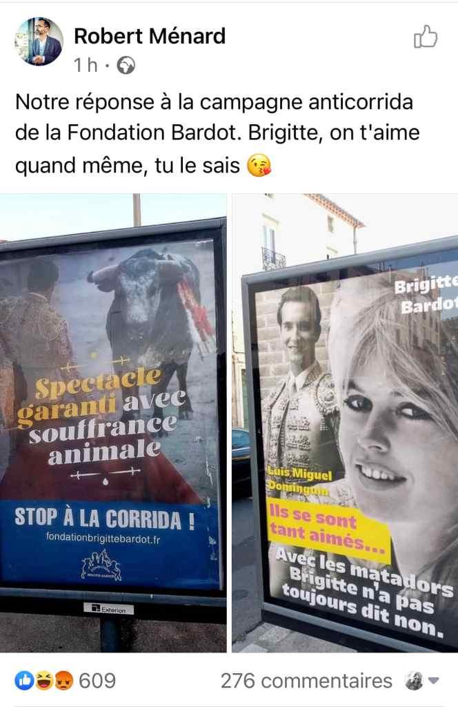 Robert Ménard répond à Brigitte Bardot