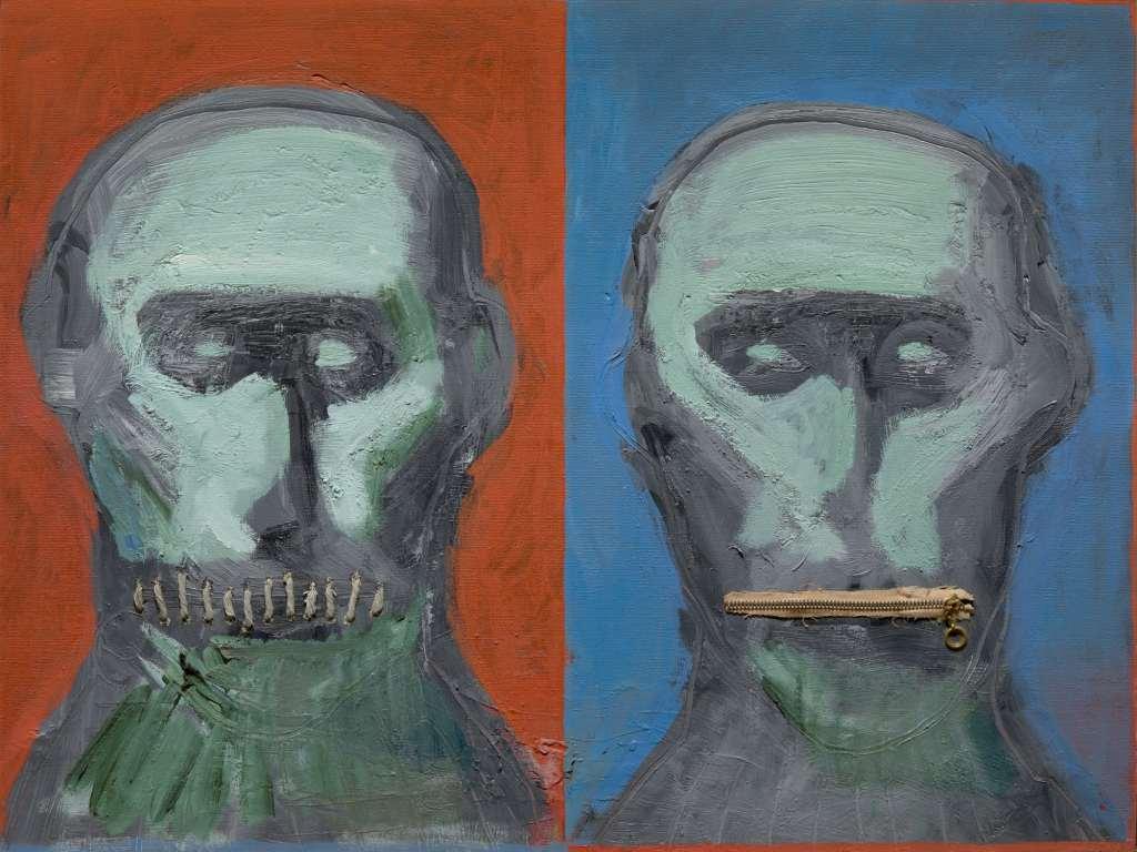 Pour la Une : Josep Bartoli « Silencí » 1982 Peinture sur toile 60 x 46 cm Collection Centre Culturel de Terrassa Crédit photo : © Jordi Canyameres
