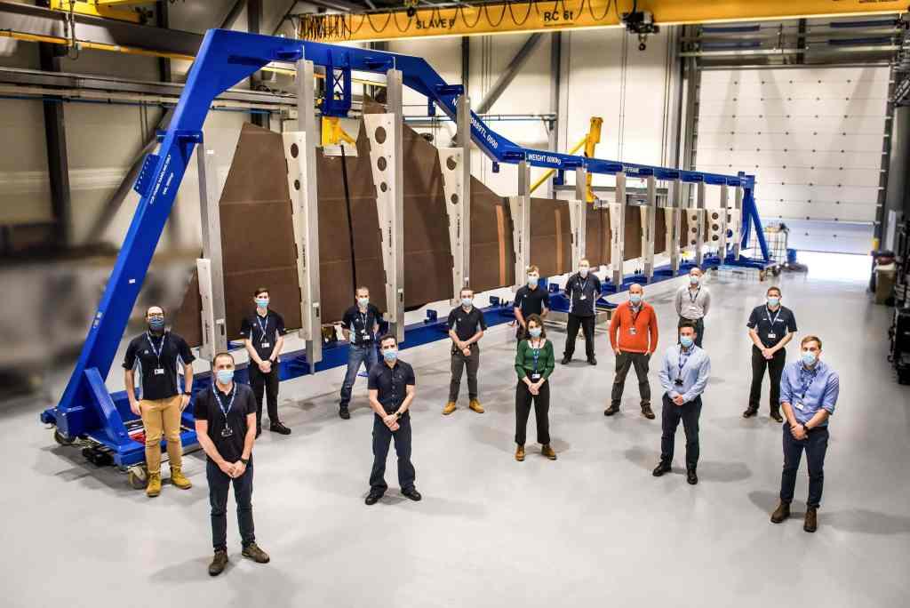"""Airbus vient de commencer l'assemblage du premier prototype de """"l'aile écologique"""" du futur. Photo © Airbus"""