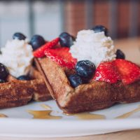 Everyone should love waffles. If they don't, they're crazy.