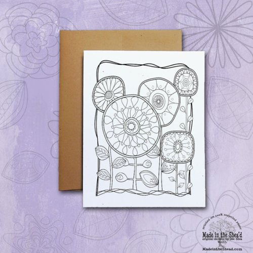 Color Me! Recycled Paper Notecard, color it yourself or give to your favorite coloring fan!  printed on 100% recycled paper, blank inside