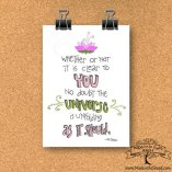 Universe Unfolding Print on Recycled Paper…unframed Hand Lettered Design 4x6 or 5x7 Max Ehrmann Quote desiderata