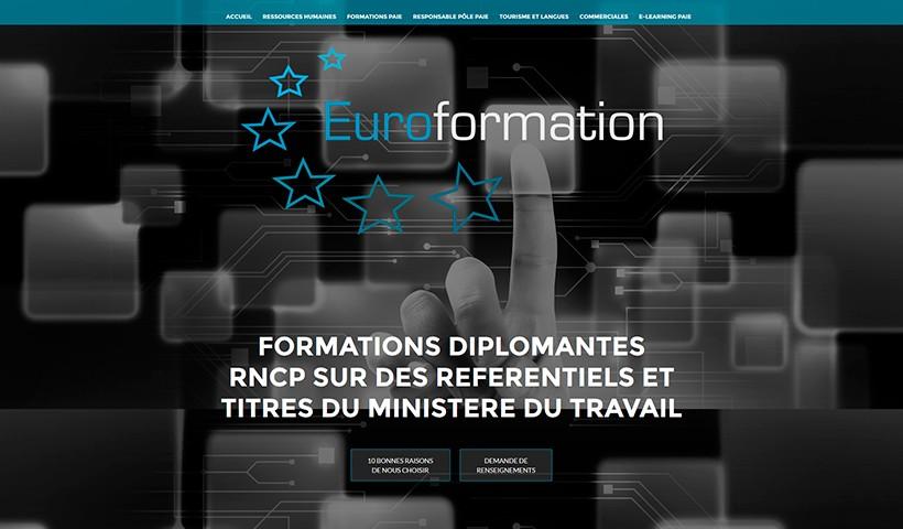 Euroformation - Un site réalisé par Made in Web
