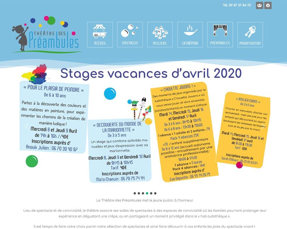 Théâtre des Préambules - Une réalisation Made in Web