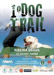 Cartaz I dog Trail da Ribeira Brava 2019