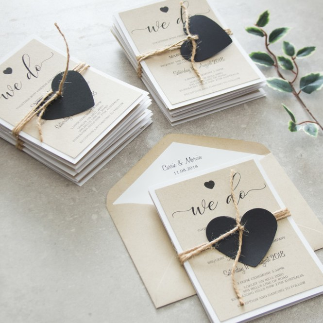 X10 Rustic Wedding Invitations Lily S Place On Madeit