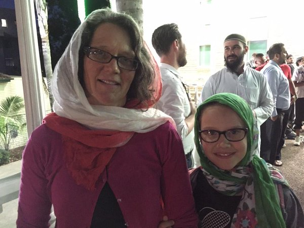 Non Muslim Mum and Daughter in solidarity.