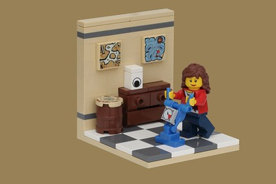Lego woman does housework