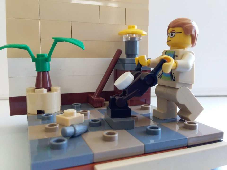 Lego Man does housework