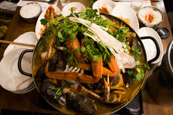 Seafood hotpot @ Five Senses // 9 W 32nd St, New York, NY 10001
