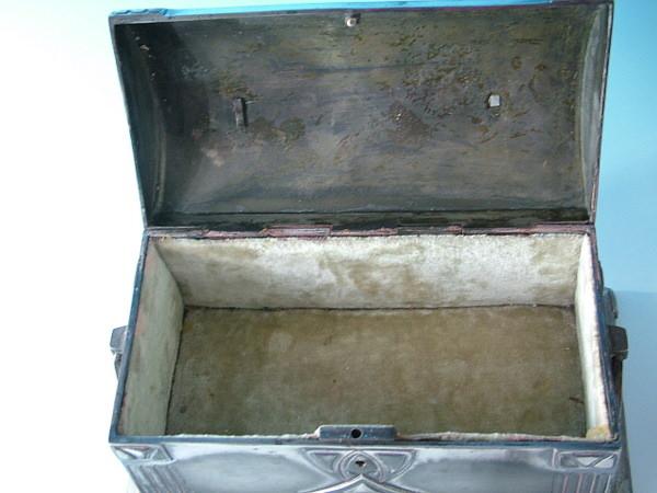 Wmf Silver Plated Lockable Jewel Casket