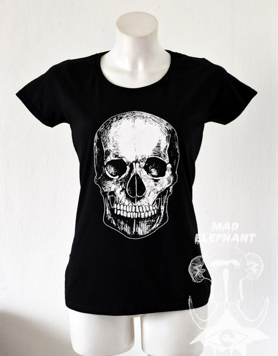 skull t shirt ladies