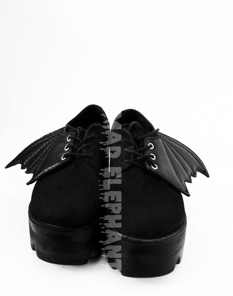 black shoe wings