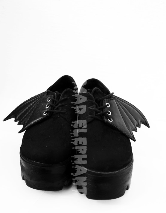 black shoe wings
