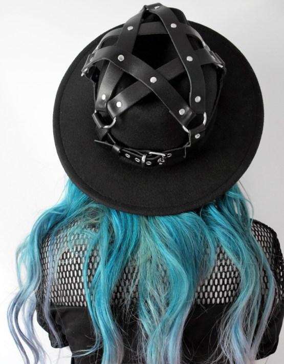 goth fedora hat