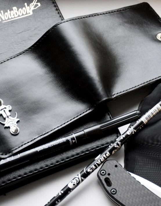mens black leather wallet bifold