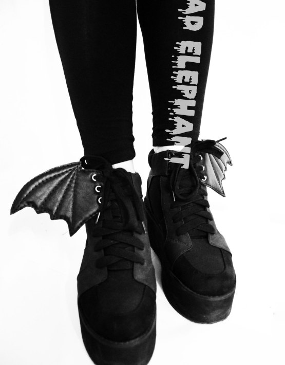 bat wings for shoes