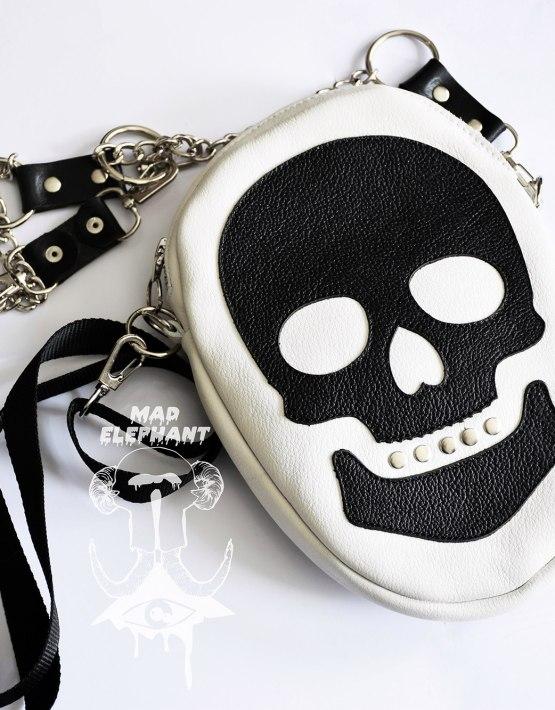 white skull bag