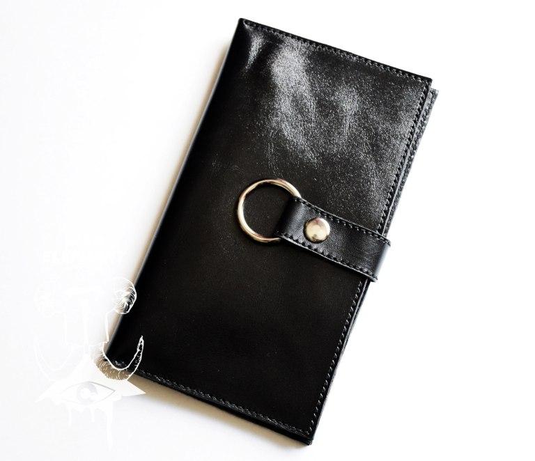 womens leather long bifold wallet