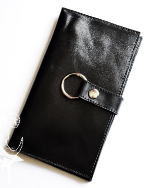 womens leather long bifold wallet