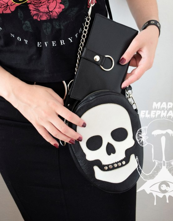 gothic leather wallet