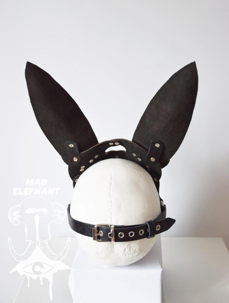 leather rabbit mask