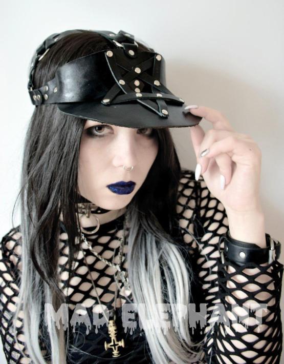 leather sun visor hats