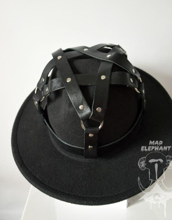 wide brim black fedora goth