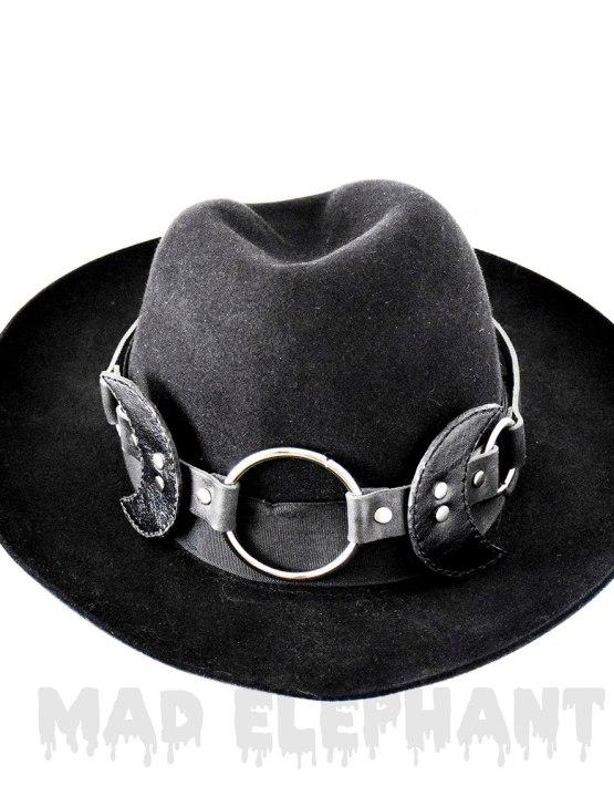 black round fedora hat