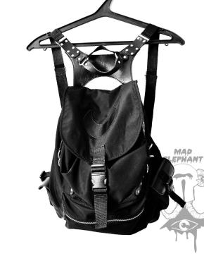 backpack black nylon