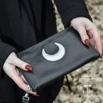 long leather clutch wallet