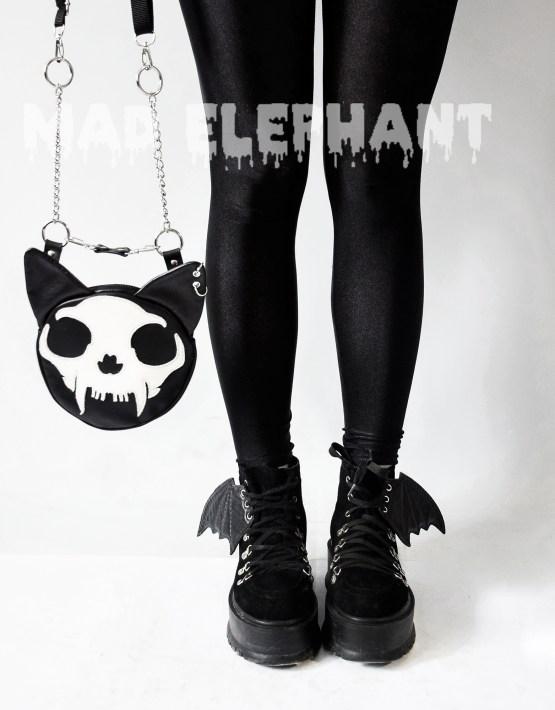 cat skull purse