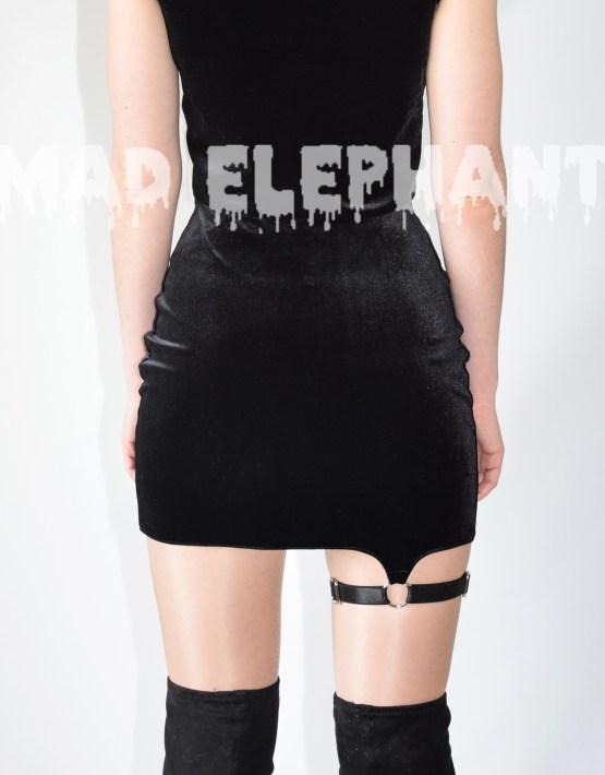 black velvet skirt high waist