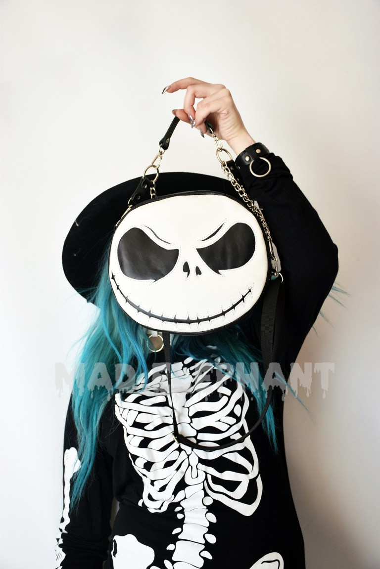 nightmare before christmas black bag with chains