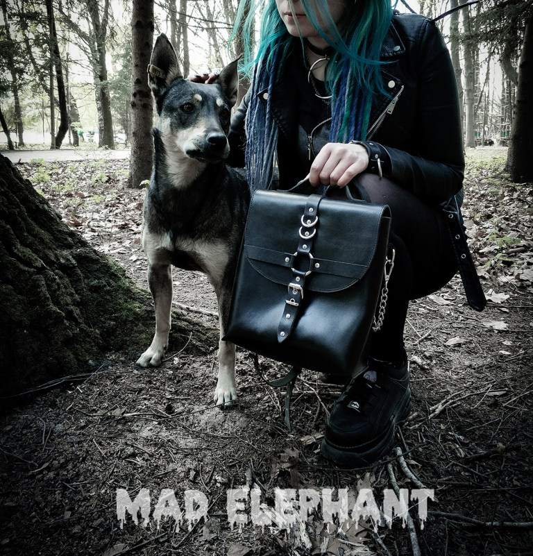 gothic girl with black bag